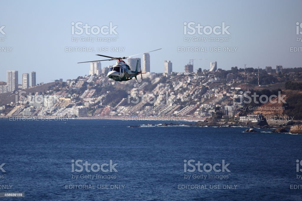 Chilean Police Helicopter stock photo