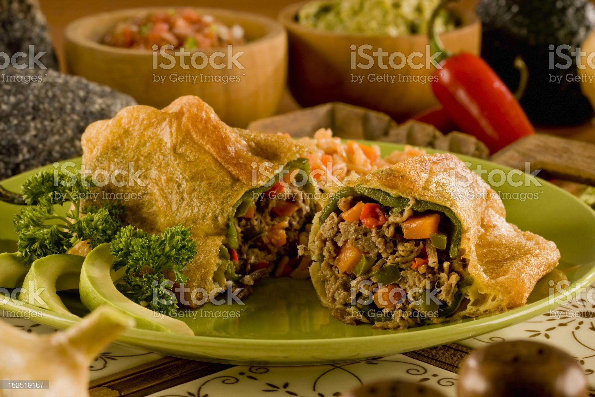 Chiles Rellenos royalty-free stock photo