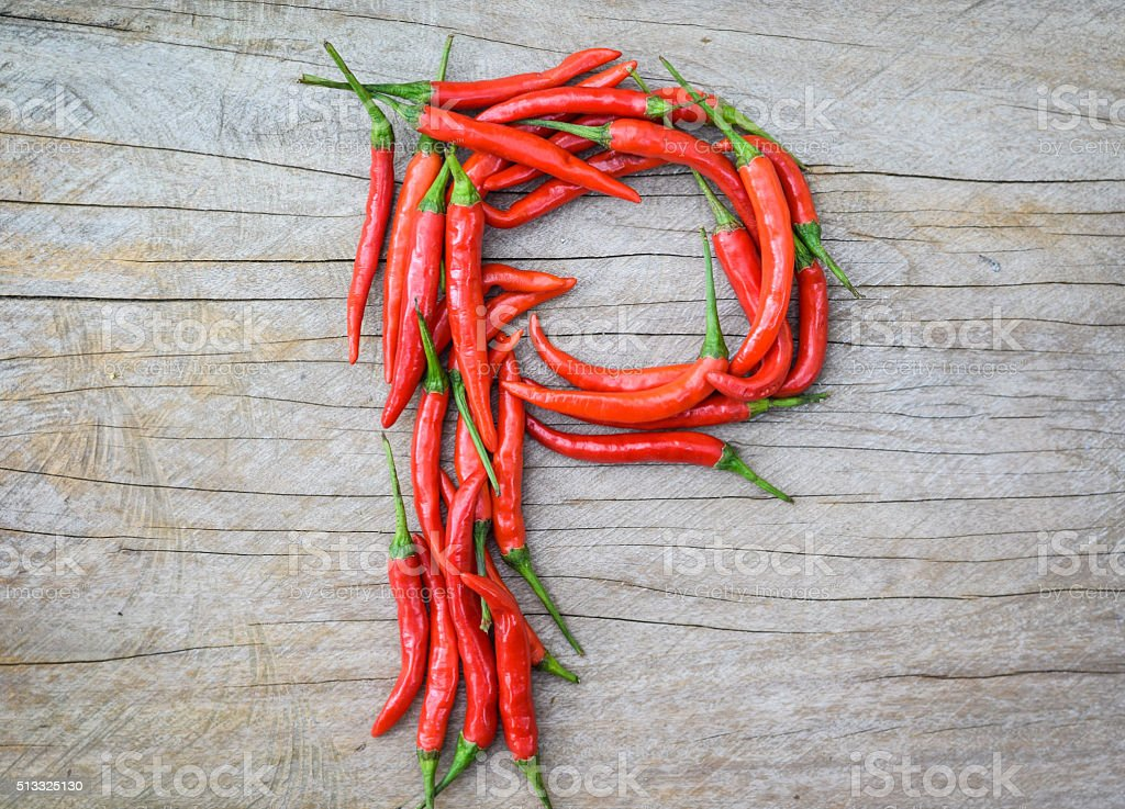chili abc - P stock photo