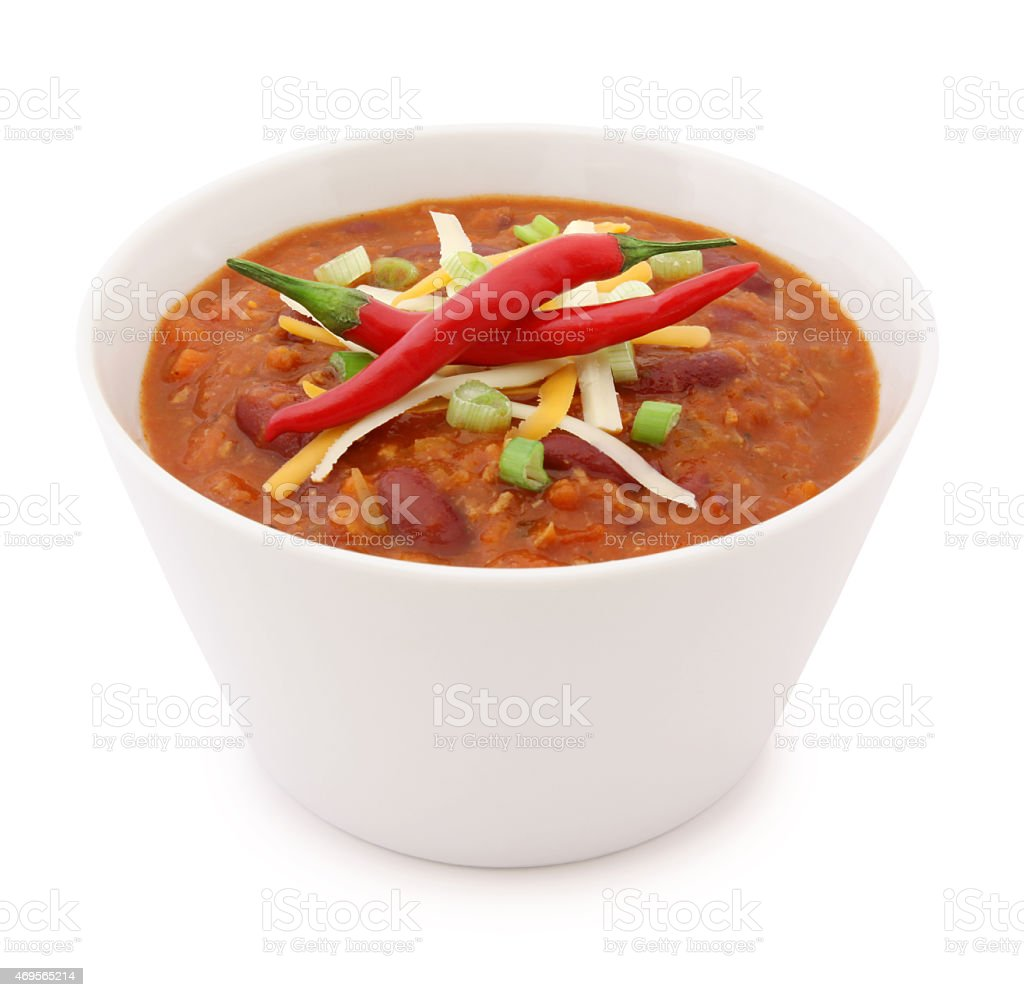 Chili Bowl (with path) stock photo