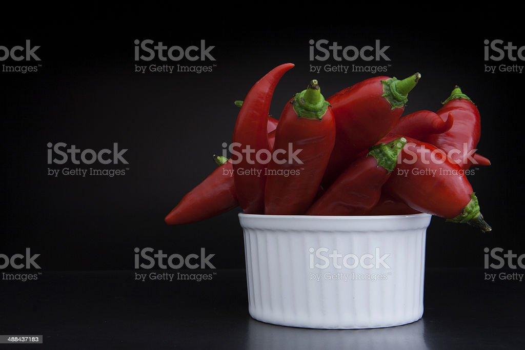 Chili box stock photo
