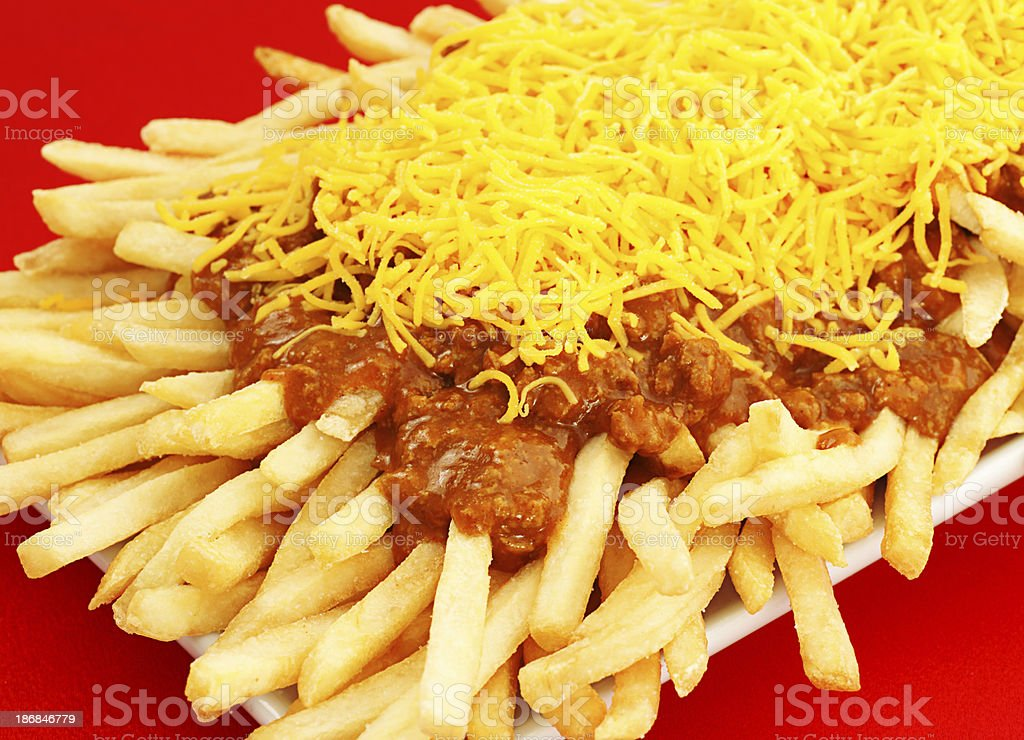 Chili Cheese Fries royalty-free stock photo
