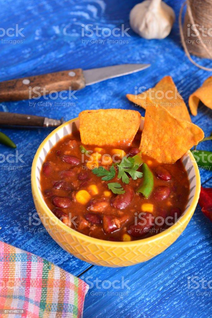 Chili con carne stock photo