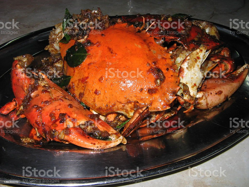 Chili Crab dish royalty-free stock photo