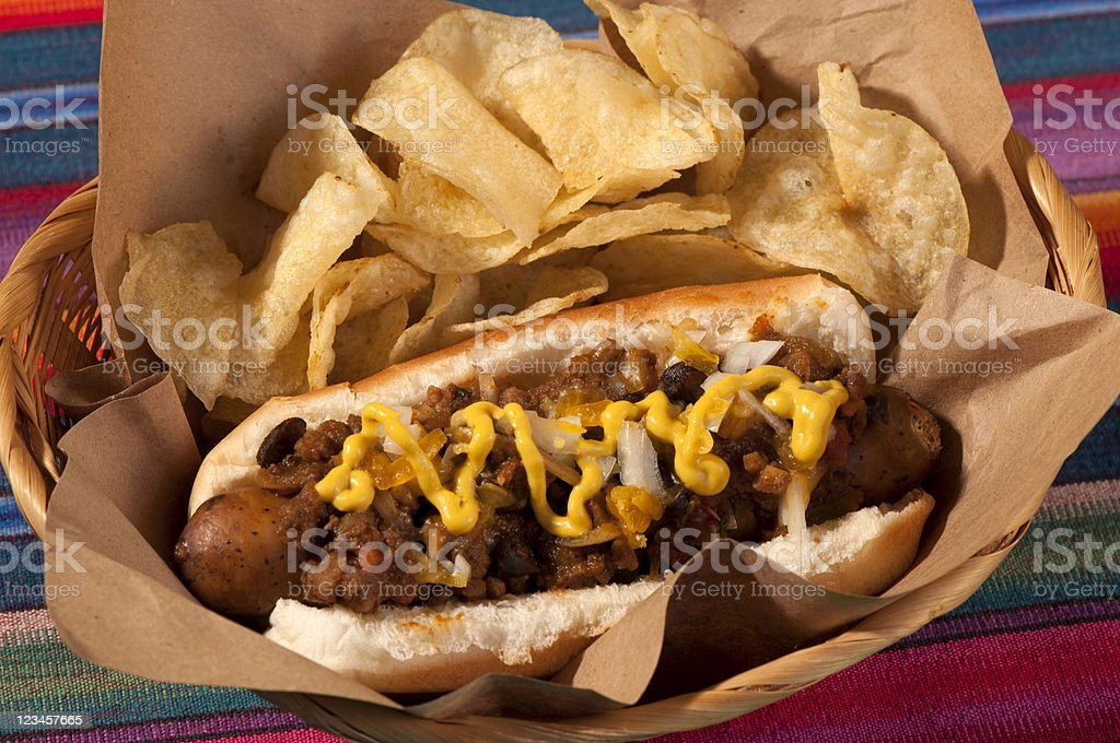 Chili Dog For You royalty-free stock photo