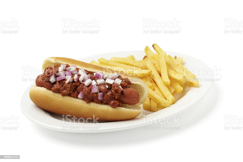 Chili Dog stock photo