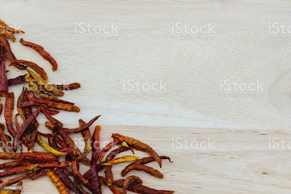 chili dried peppers stock photo