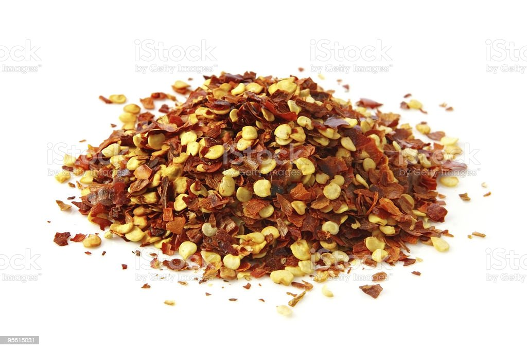 Chili Flakes stock photo