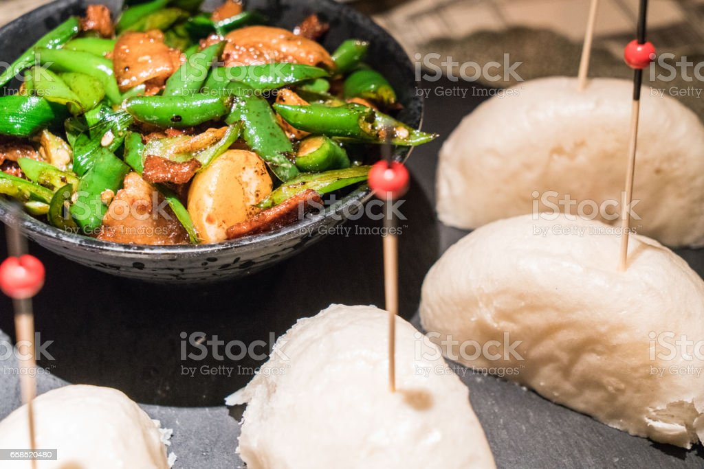 Chili fried Meat, Chinese Food stock photo