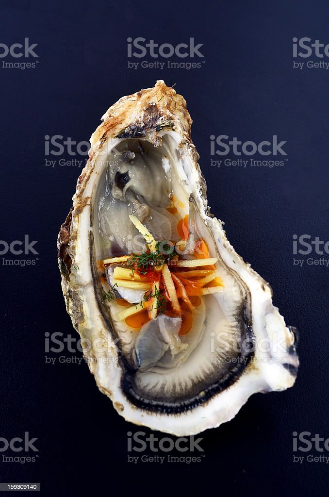 Chili ginger oyster stock photo