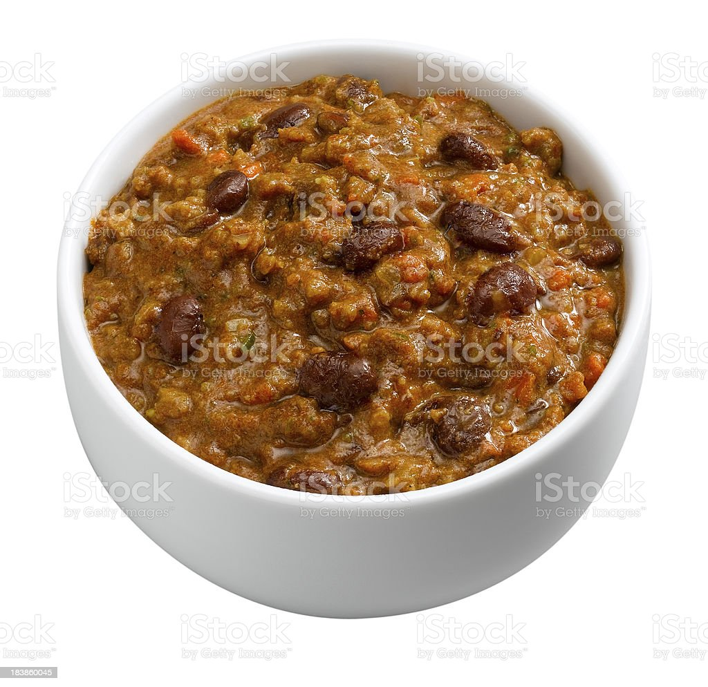 Chili in Bowl stock photo