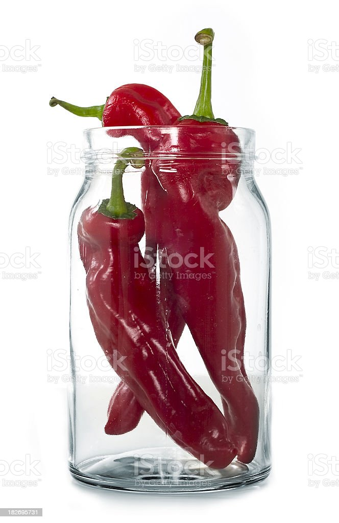 chili in the jar royalty-free stock photo
