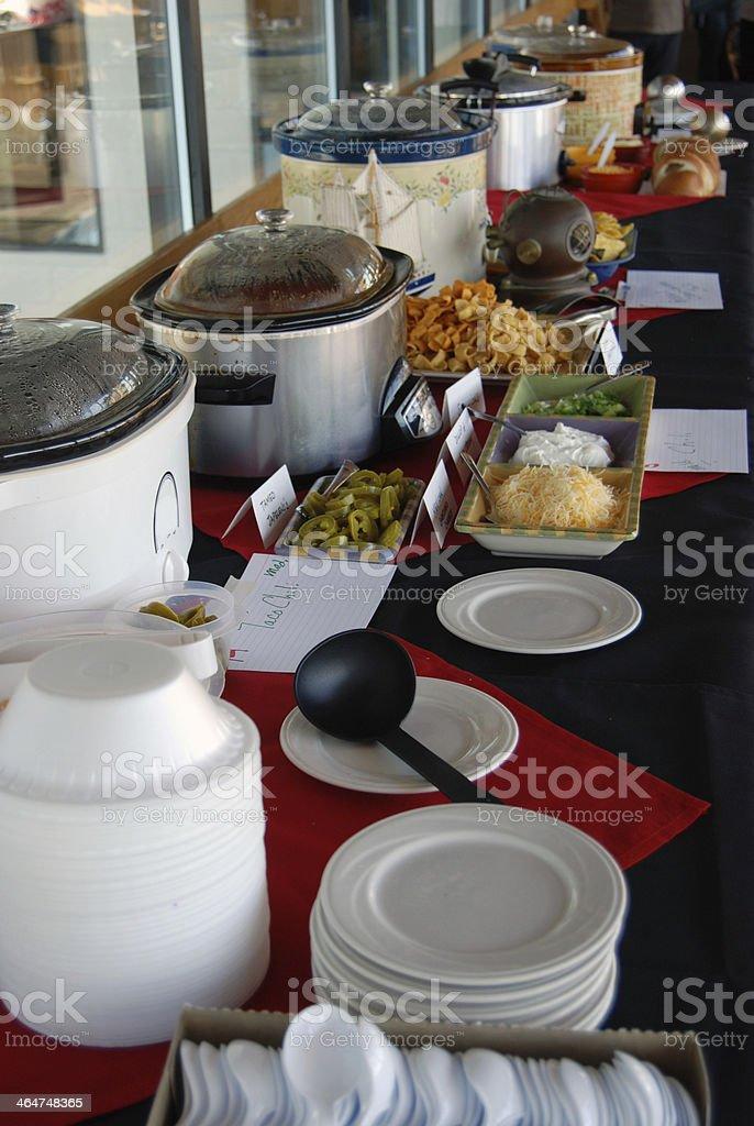 chili party buffet stock photo