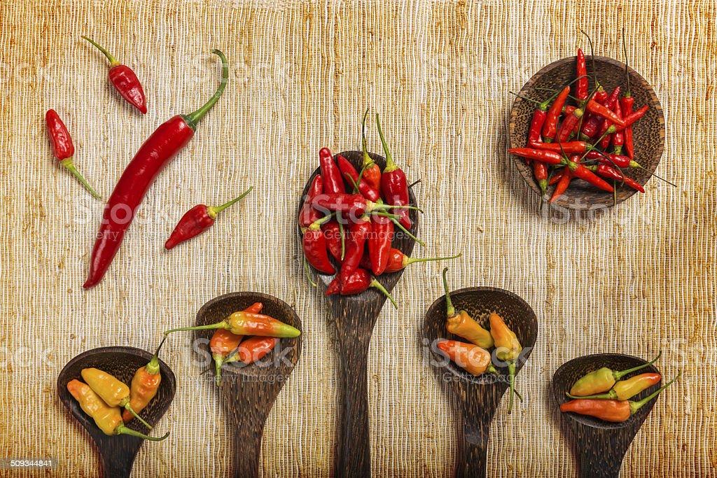 Chili pepper background stock photo