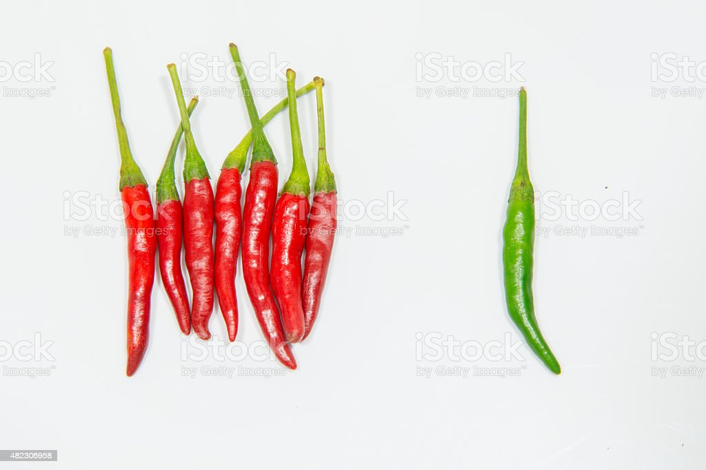 chili pepper isolated on a white background stock photo