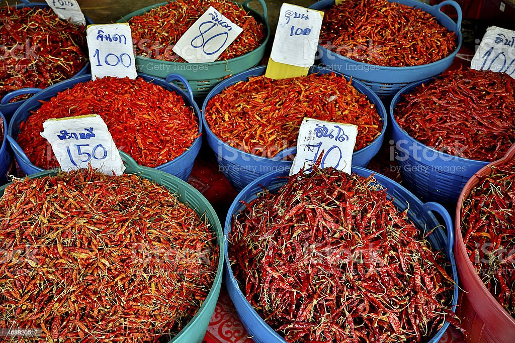 Chili Pepper Thai Cuisine Thailand royalty-free stock photo
