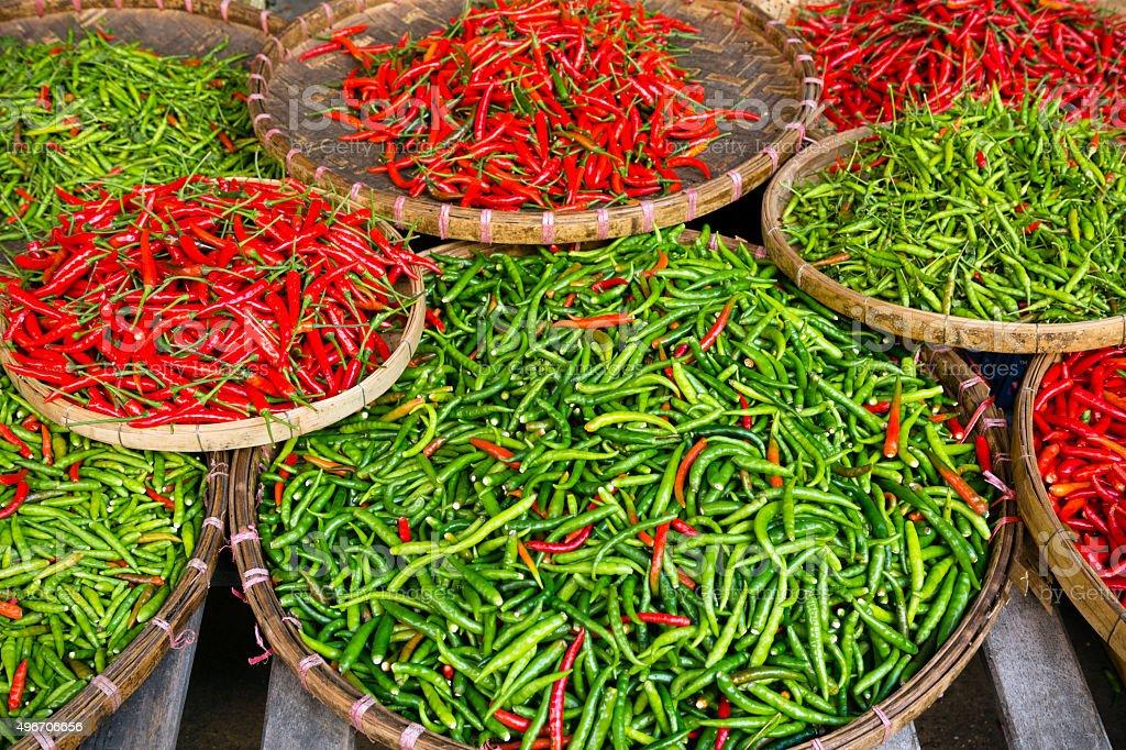 Chili Pepper Thai Cuisine Thailand stock photo