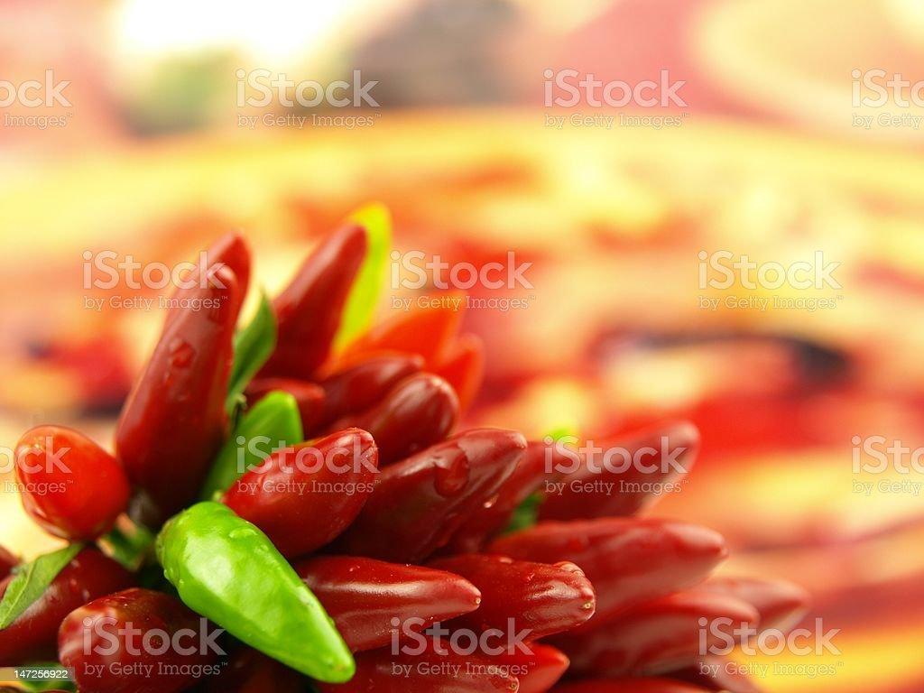 chili pepper very close stock photo