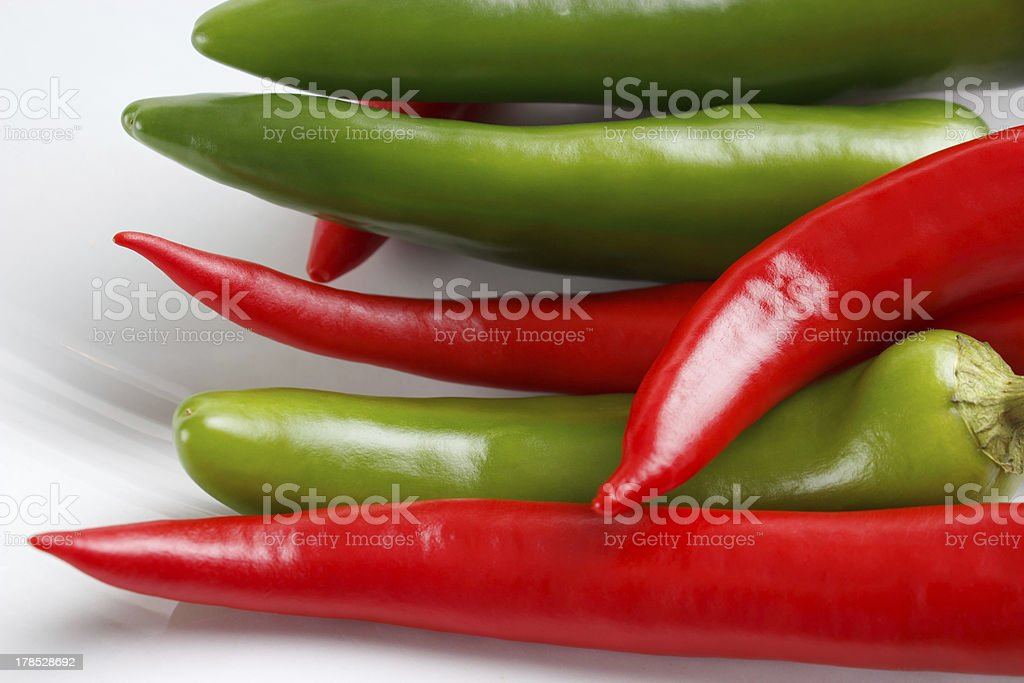 Chili peppers closeup royalty-free stock photo