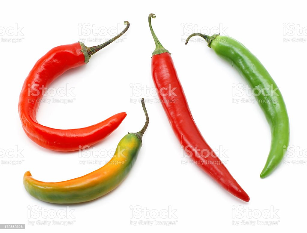 Chili peppers isolated royalty-free stock photo