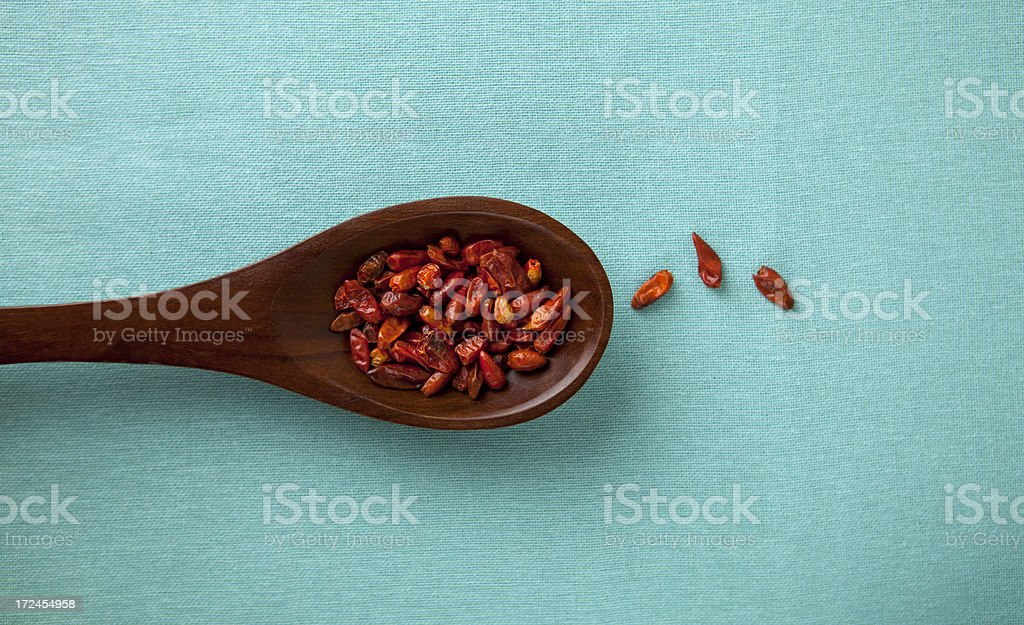 Chili pequin whole royalty-free stock photo