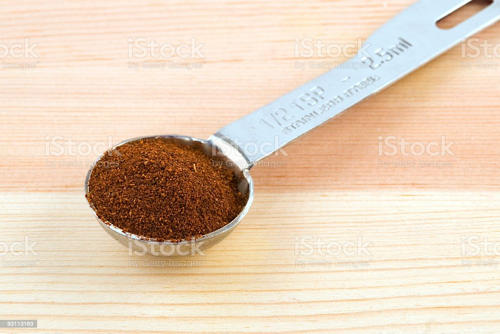 Chili Powder in Measuring Spoon royalty-free stock photo