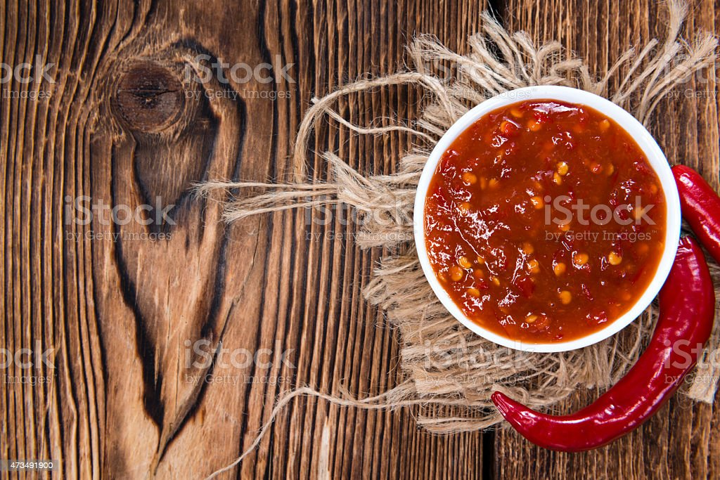 Chili Sauce (Sambal Oelek) stock photo