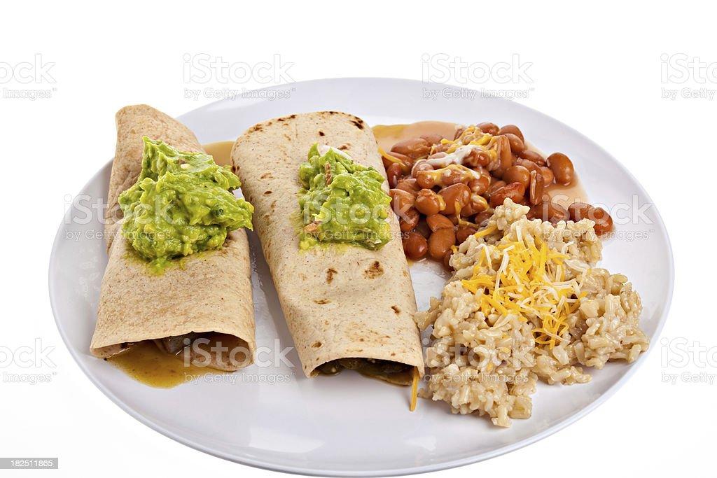Chili Verde Burritos royalty-free stock photo