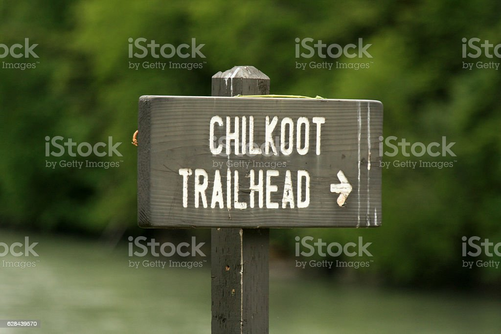 Chilkoot Gold Mine Trail, Skaguay, Alaska, USA stock photo