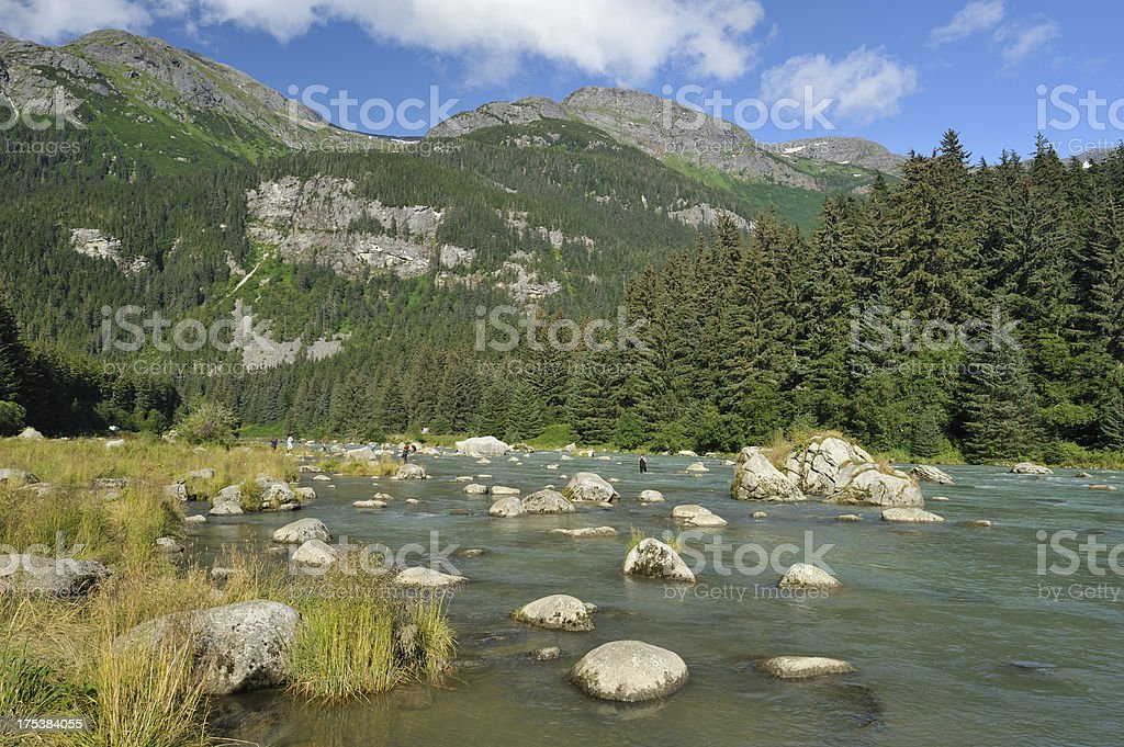 Chilkoot river, Alaska stock photo