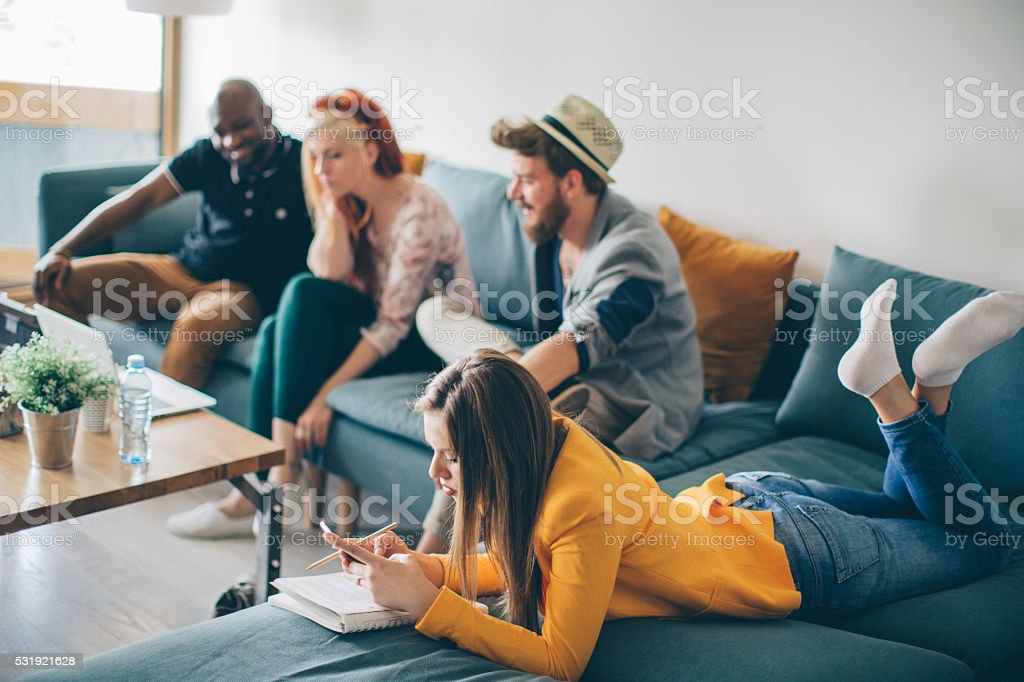 Chill House Atmosphere stock photo