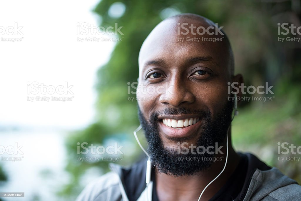 Chill out after running stock photo