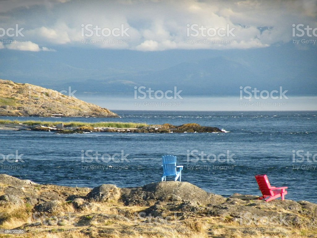 Chill out by the sea. stock photo