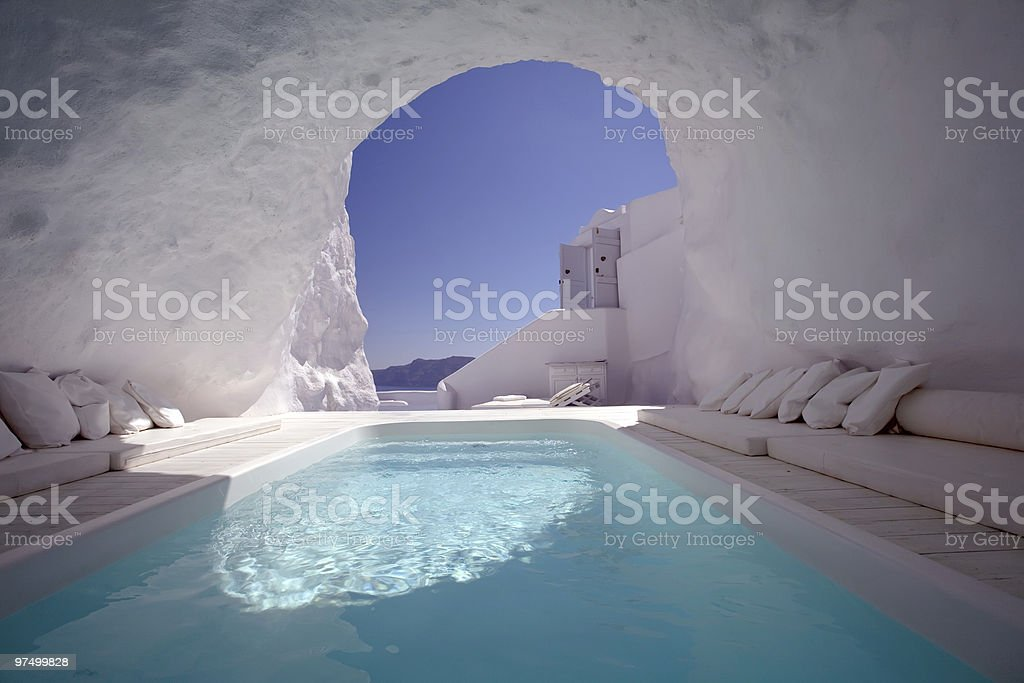 Chill Out in Santorini royalty-free stock photo