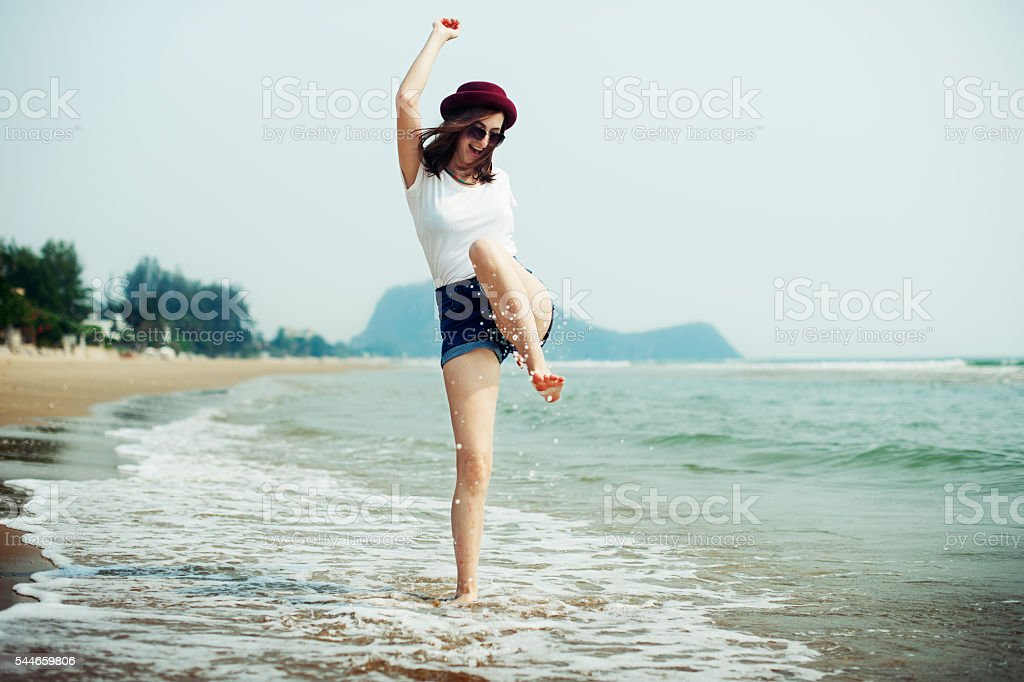 Chill Peace Summer Coast Vacation Journey Calm Concept stock photo
