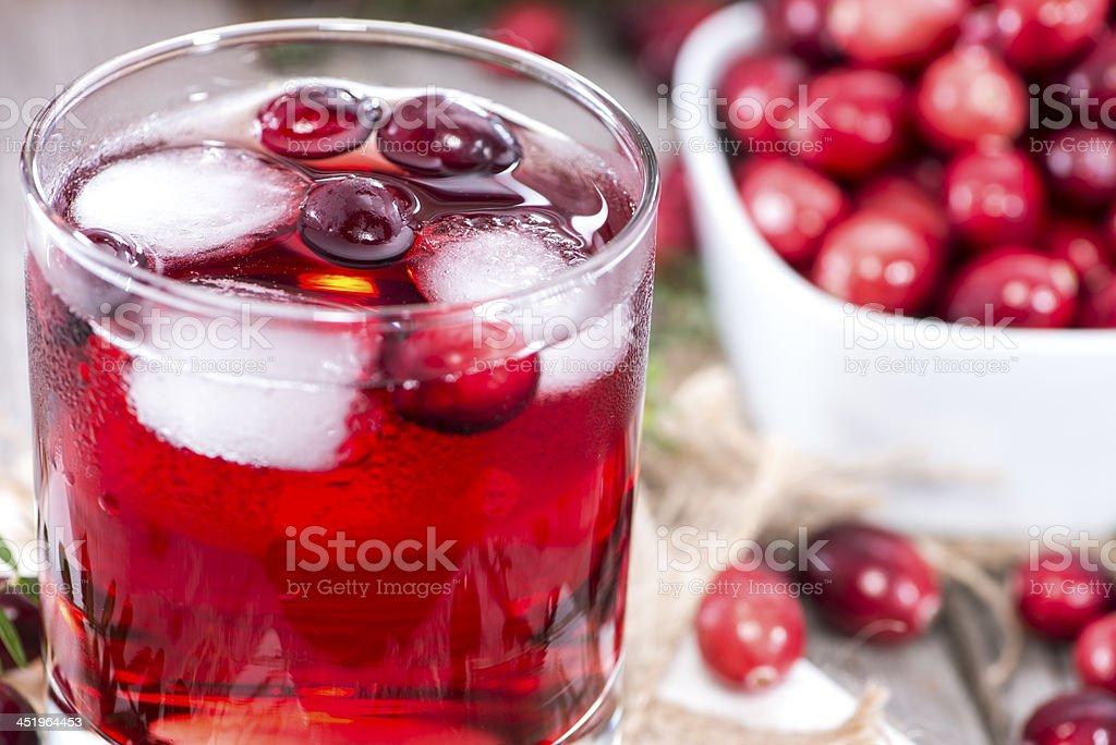 Chilled Cranberry Juice stock photo