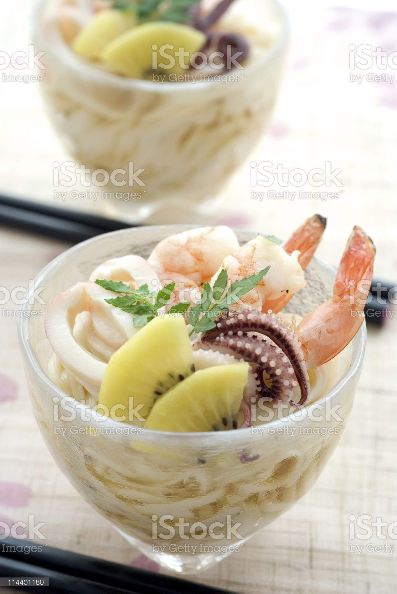 Chilled Seafood Somen royalty-free stock photo