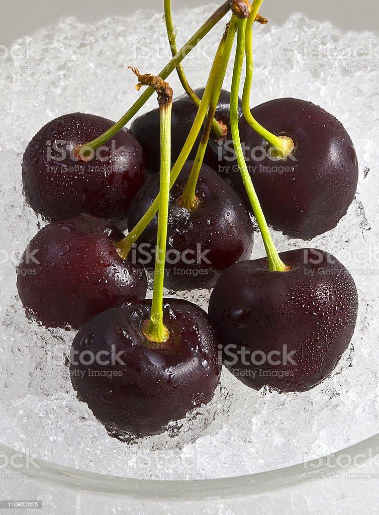 chilled tempting cherries stock photo