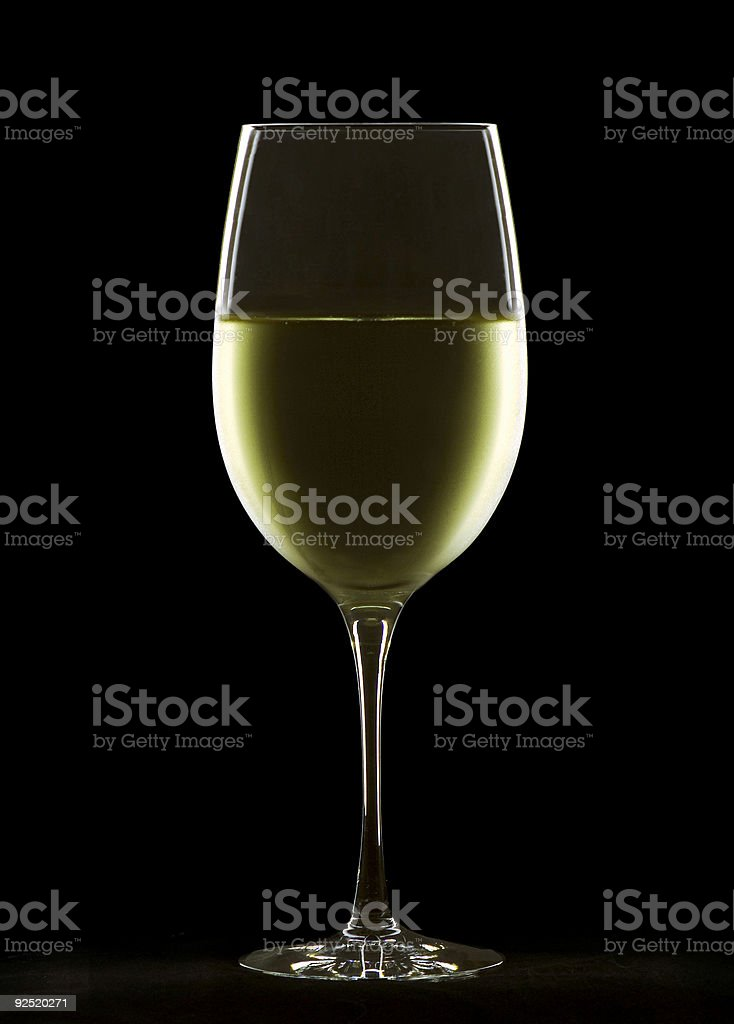 Chilled white wine stock photo