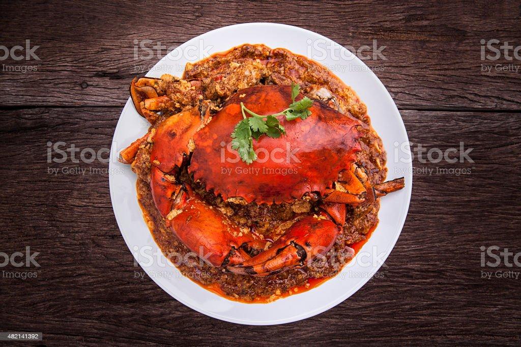 Chilli crab asia cuisine. stock photo