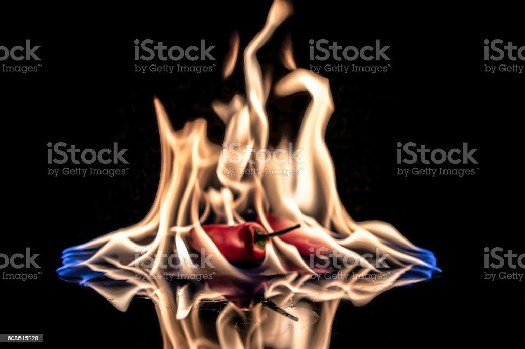 chilli heat stock photo