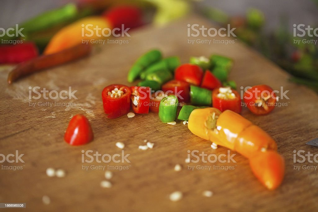 Chilli peppers royalty-free stock photo