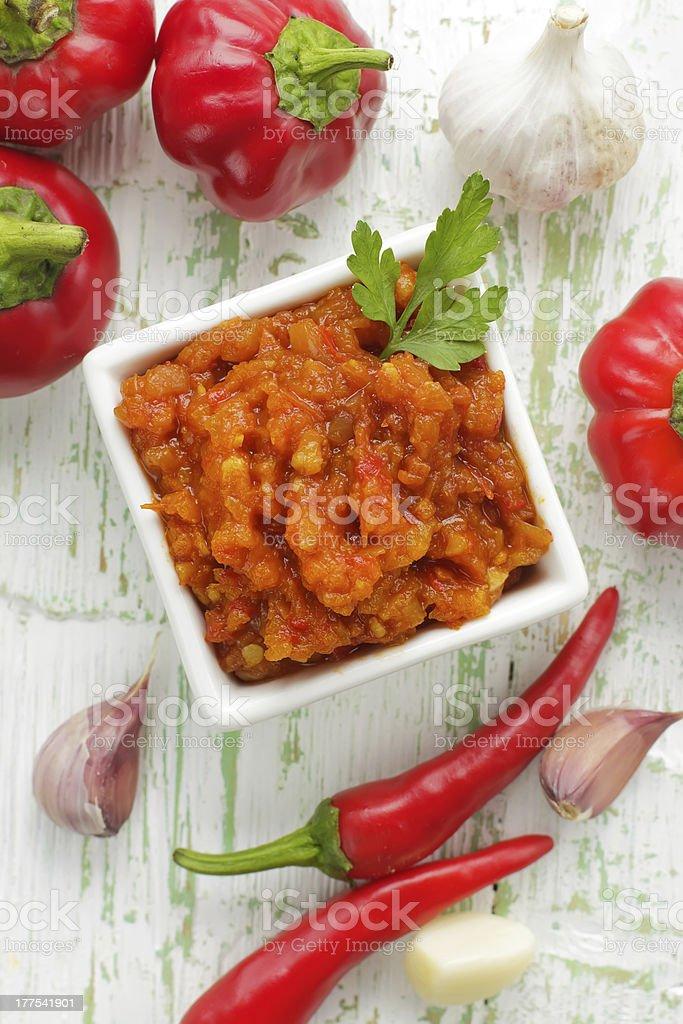Chilli sauce royalty-free stock photo