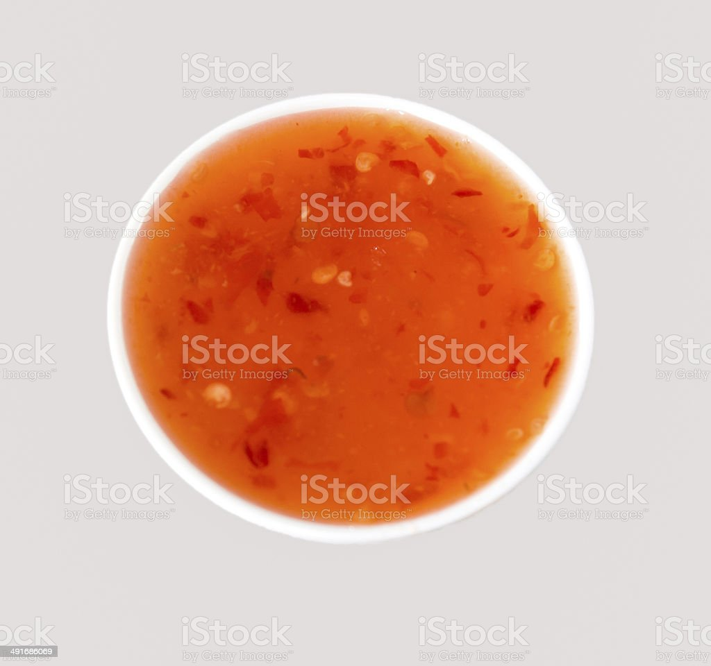 chilli sauce stock photo