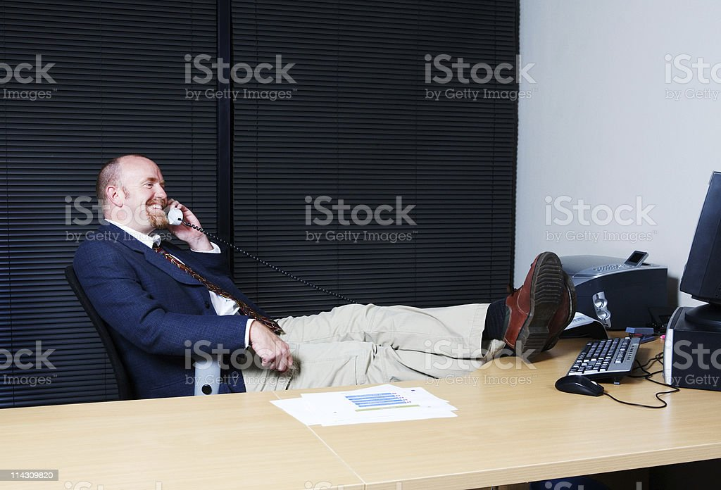 Chillin' at the office royalty-free stock photo