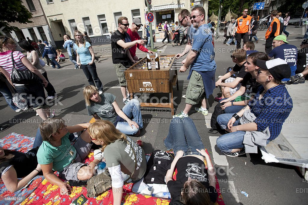 Chilling at the Berlin Carnival of Cultures royalty-free stock photo