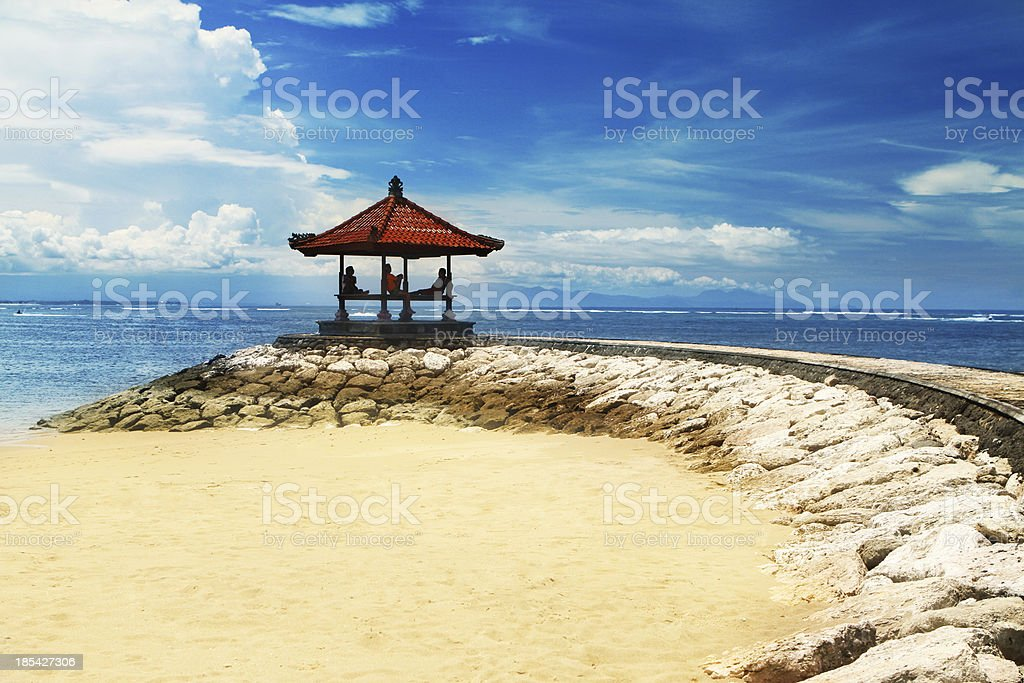 Chilling out in paradise stock photo