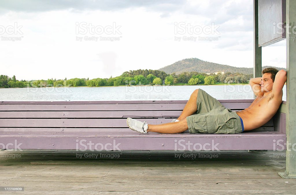 Chilling out stock photo