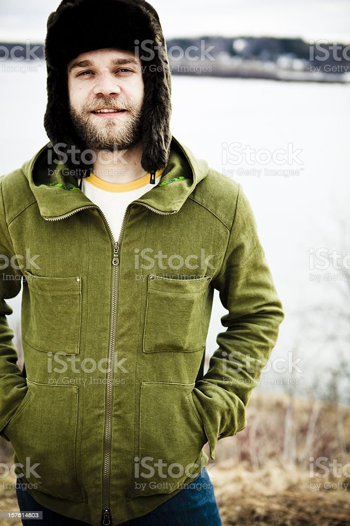 Chilling outsibe by a beautiful autumn day. royalty-free stock photo