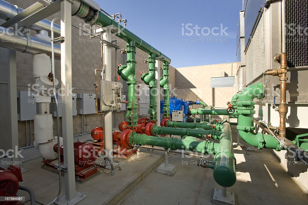 Chilling Towers and Pumps royalty-free stock photo